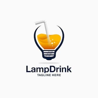 Logotipo de bebida da lâmpada