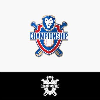 Logotipo de beisebol de leão