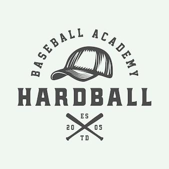 Logotipo de beisebol vintage