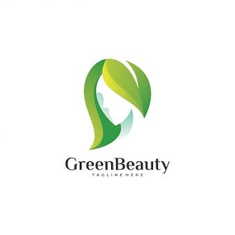 Logotipo de beleza verde