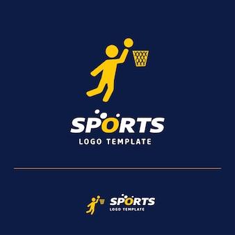 Logotipo de bola de basquete