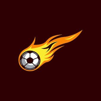 Logotipo de bola de fogo