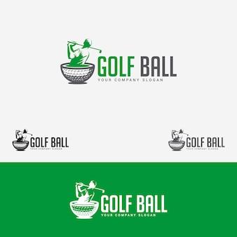 Logotipo de bola de golfe