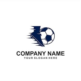 Logotipo de bola de pé