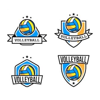 Logotipo de bola de vôlei