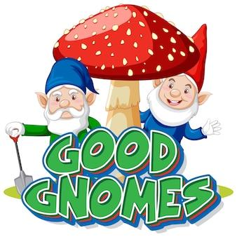 Logotipo de bons gnomos em fundo branco