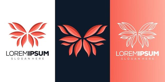 Logotipo de borboleta abstrack