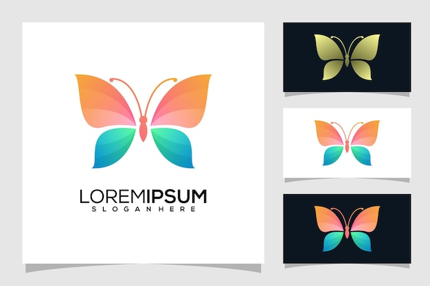Logotipo de borboleta abstrato