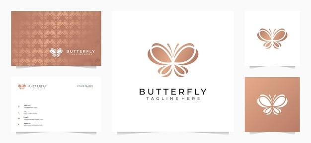Logotipo de borboleta incrível