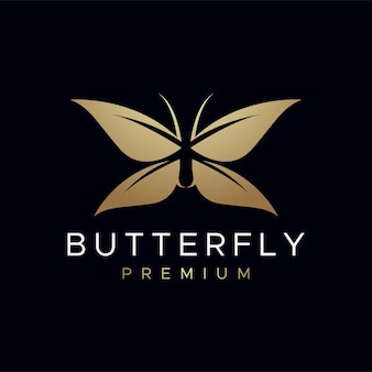 Logotipo de borboleta premium