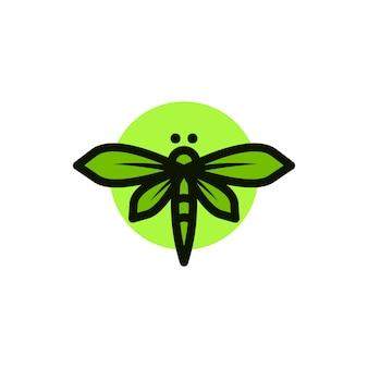 Logotipo de borboleta vector minimalista