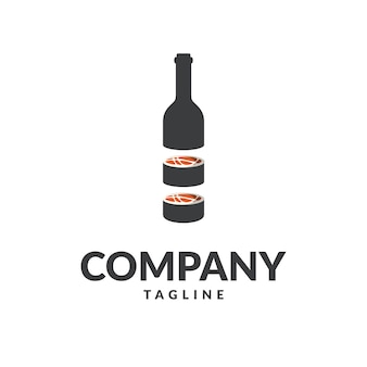 Logotipo de botlle de sushi