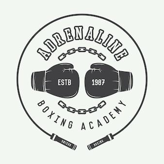 Logotipo de boxe e artes marciais
