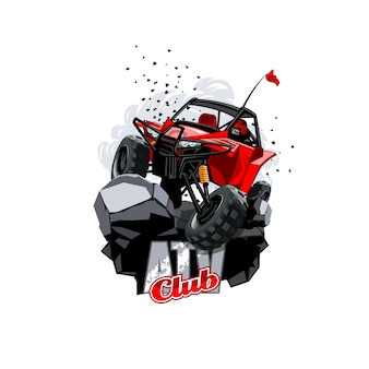 Logotipo de buggy off-road atv