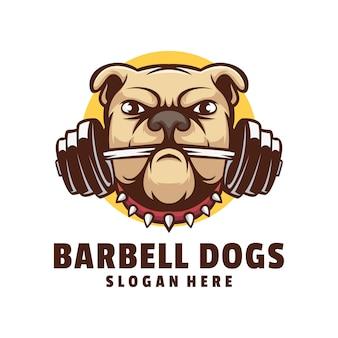 Logotipo de bulldog fitness