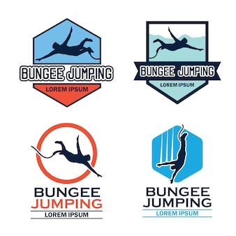 Logotipo de bungee jumping