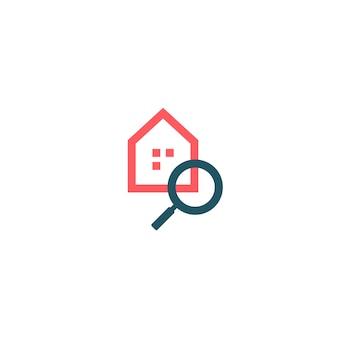 Logotipo de busca em casa