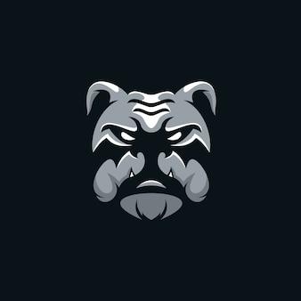 Logotipo de cabeça bulldog