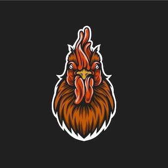 Logotipo de cabeça de galo