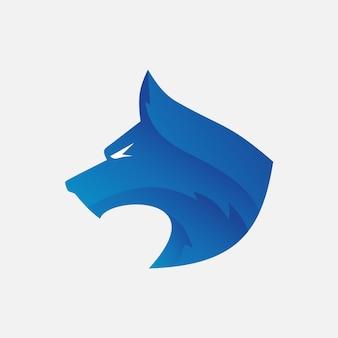 Logotipo de cabeça de lobo vector