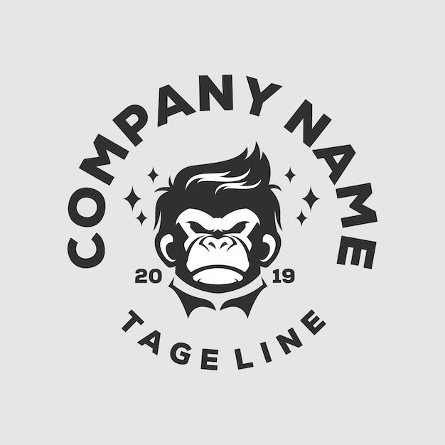 Logotipo de cabeça de macaco