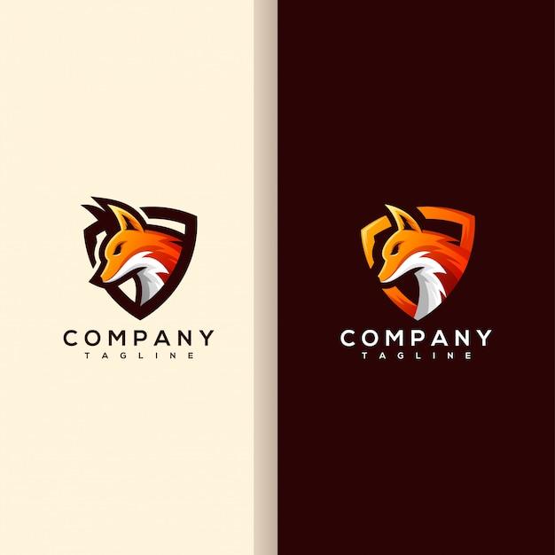 Logotipo de cabeça de raposa