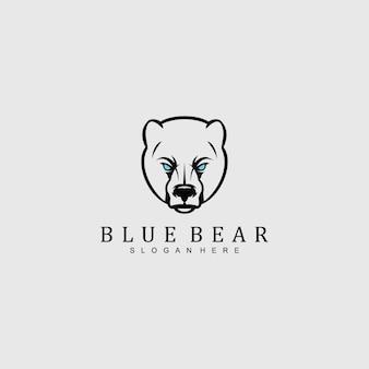 Logotipo de cabeça de urso irritado para qualquer empresa