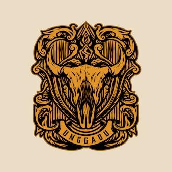 Logotipo de cabra de crânio