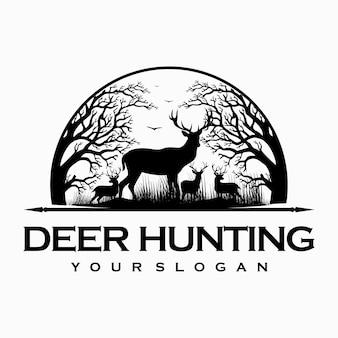 Logotipo de caça ao veado