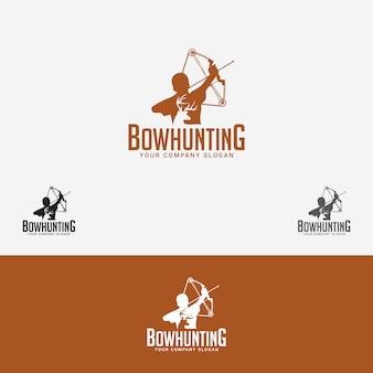 Logotipo de caça de arco