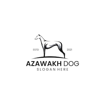 Logotipo de cachorro azawakh