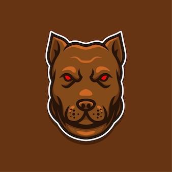 Logotipo de cães com olhos vermelhos