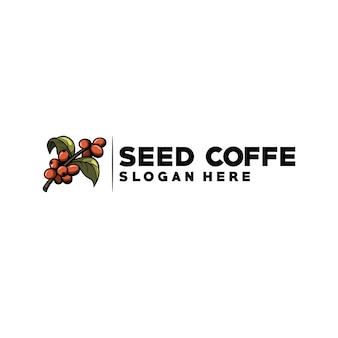 Logotipo de café de sementes