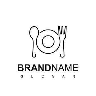 Logotipo de café e restaurante em estilo de uma linha