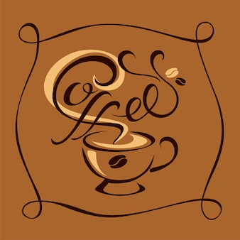 Logotipo de café elegante