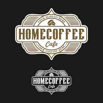 Logotipo de café em casa