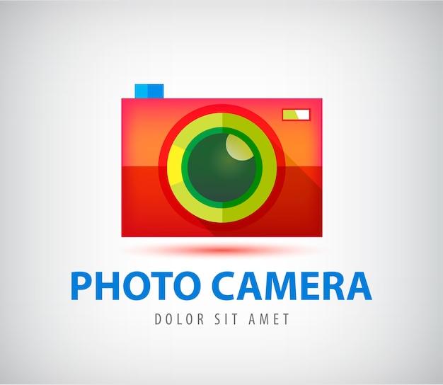 Logotipo de câmera fotográfica colorida em vetor