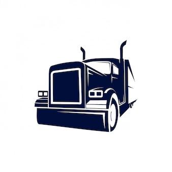 Logotipo de caminhão semi monstro
