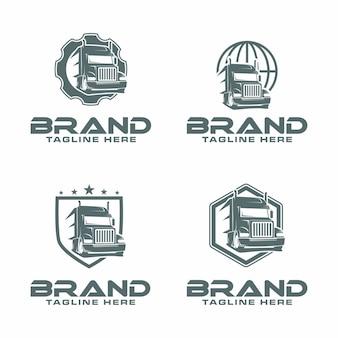 Logotipo de caminhão semi