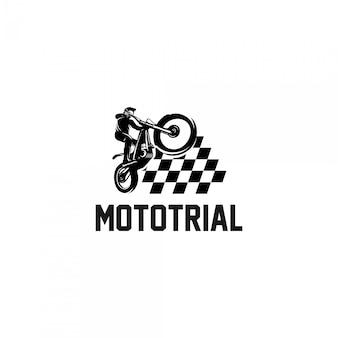 Logotipo de campeões de moto de teste