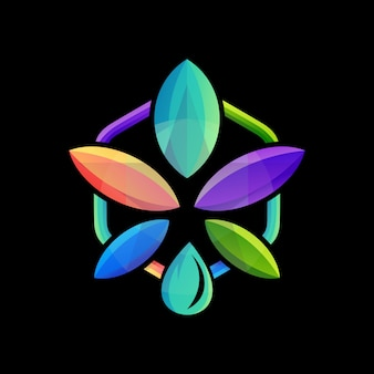 Logotipo de canabis no escuro