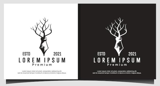 Logotipo de caneta e árvore para livro, design de logotipo de filme assustador