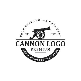 Logotipo de canhão vintage