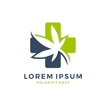 Logotipo de cannabis médico