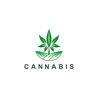 Logotipo de cannabis