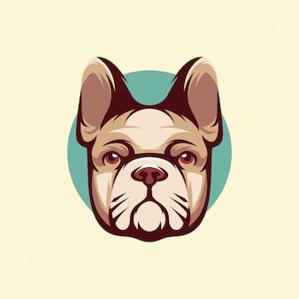 Logotipo de cara de cachorro