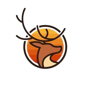 Logotipo de cara de veado