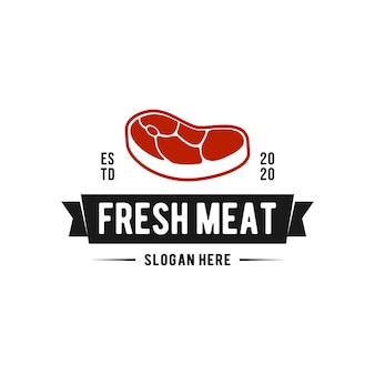 Logotipo de carne fresca