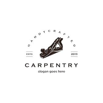 Logotipo de carpintaria vintage