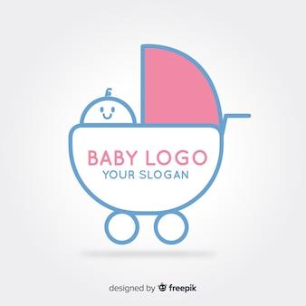 Logotipo de carrinho de bebê